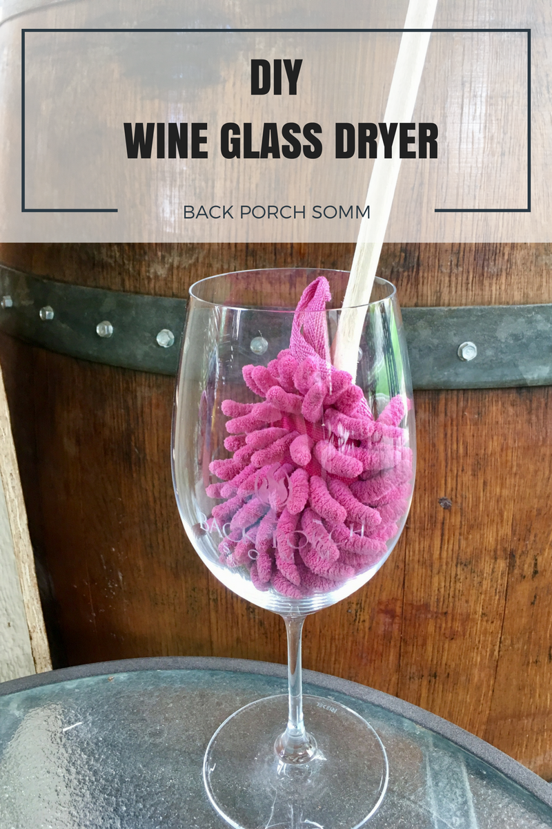 DIY WINE GLASS DRYER | BACK PORCH SOMM