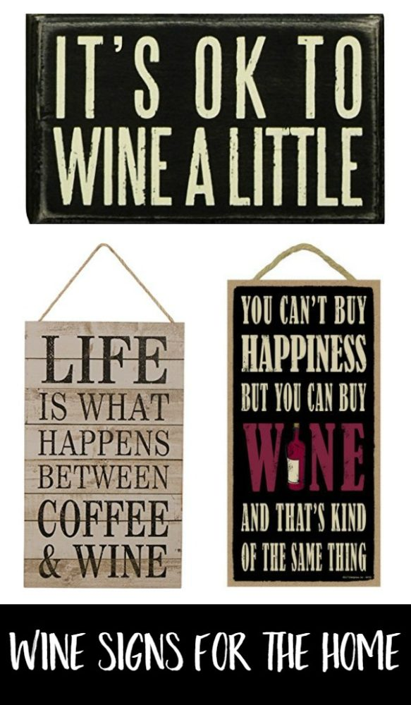 Fun Wine Signs for the Home