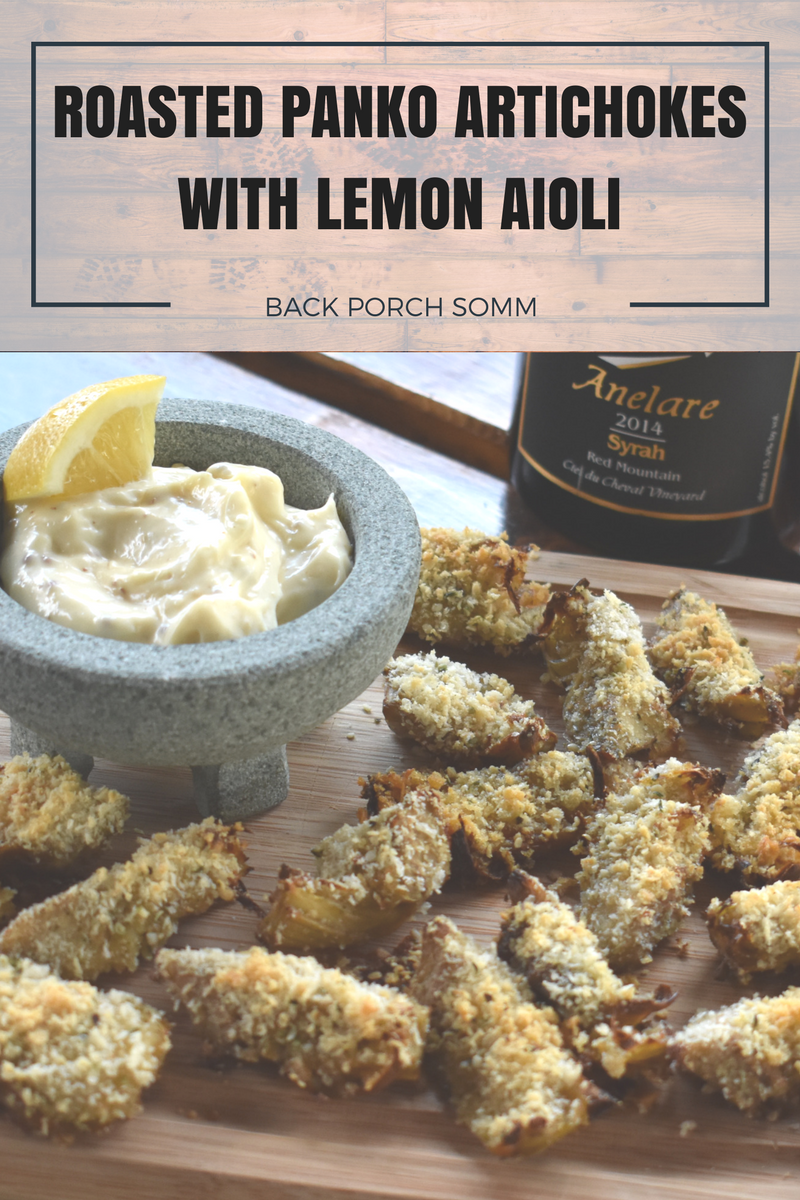 Roasted Panko Artichokes with Lemon Aioli