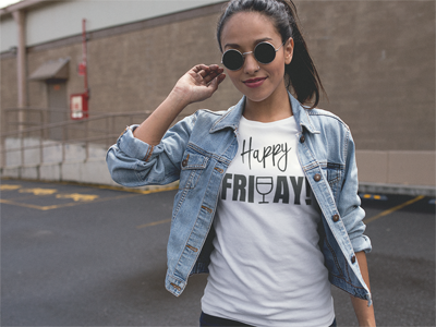 happy friyay shirt promo